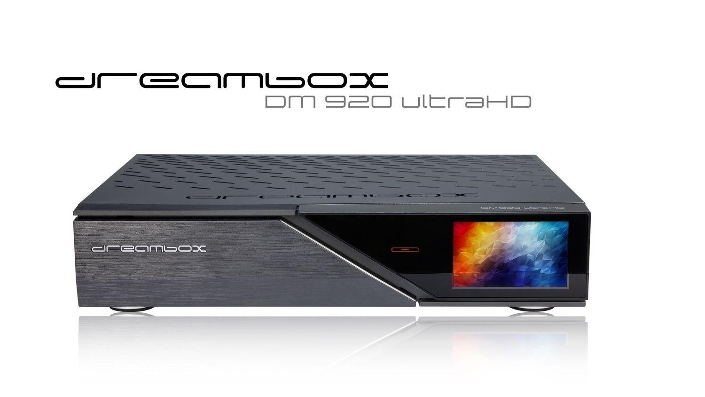 Dreambox DM920 UHD 4K 1x DVB-S2X MultiStream Dual Tuner E2 Linux PVR Receiver