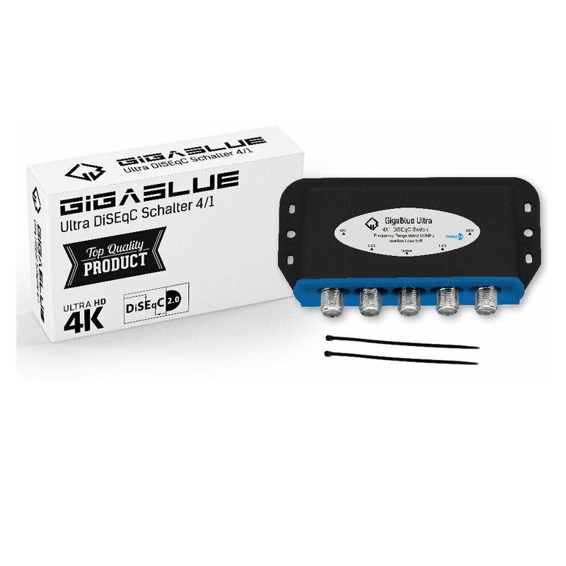 GigaBlue Ultra DiSEqC Schalter 4/1 Wetterschutz SAT Umschalter Switch LNB 4K UHD