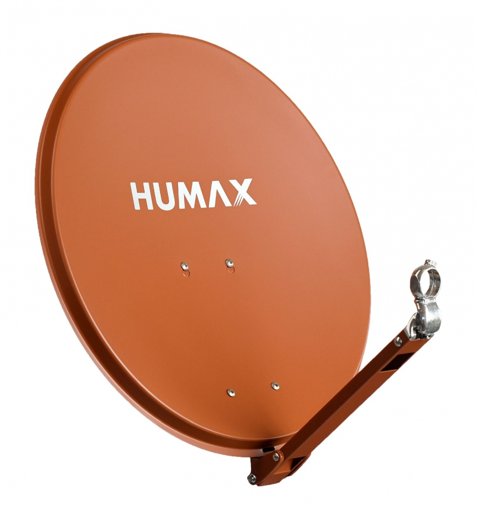 Humax Professional 75cm Alu Satellitenspiegel ziegelrot