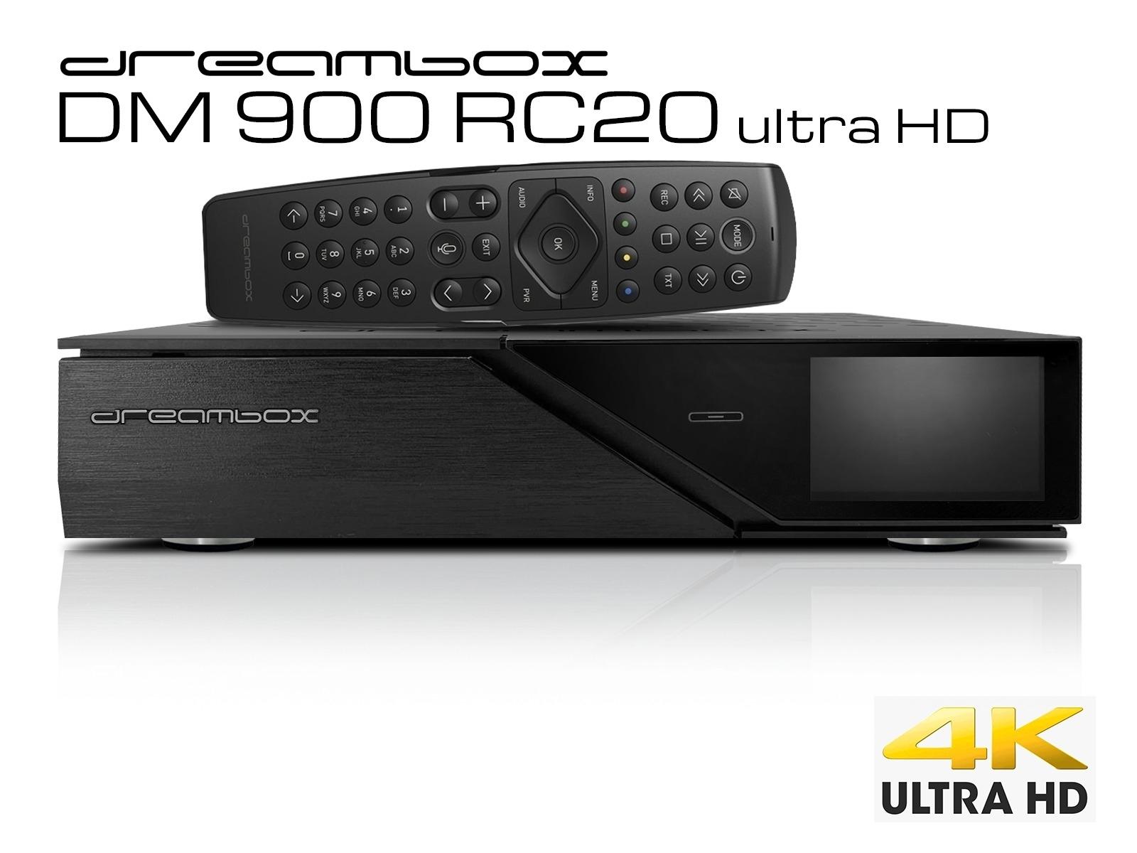 Dreambox DM900 RC20 UHD 4K 1x DVB-S2X FBC MS Twin Tuner E2 Linux PVR ready Receiver