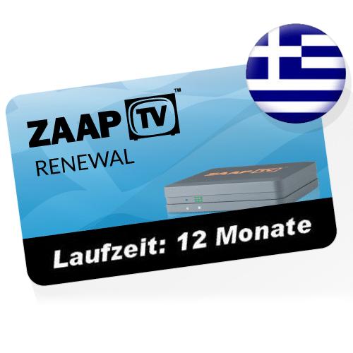ZaapTV -Greek- 1 Jahr Verlängerung für HD409N, HD509N, HD609N usw.