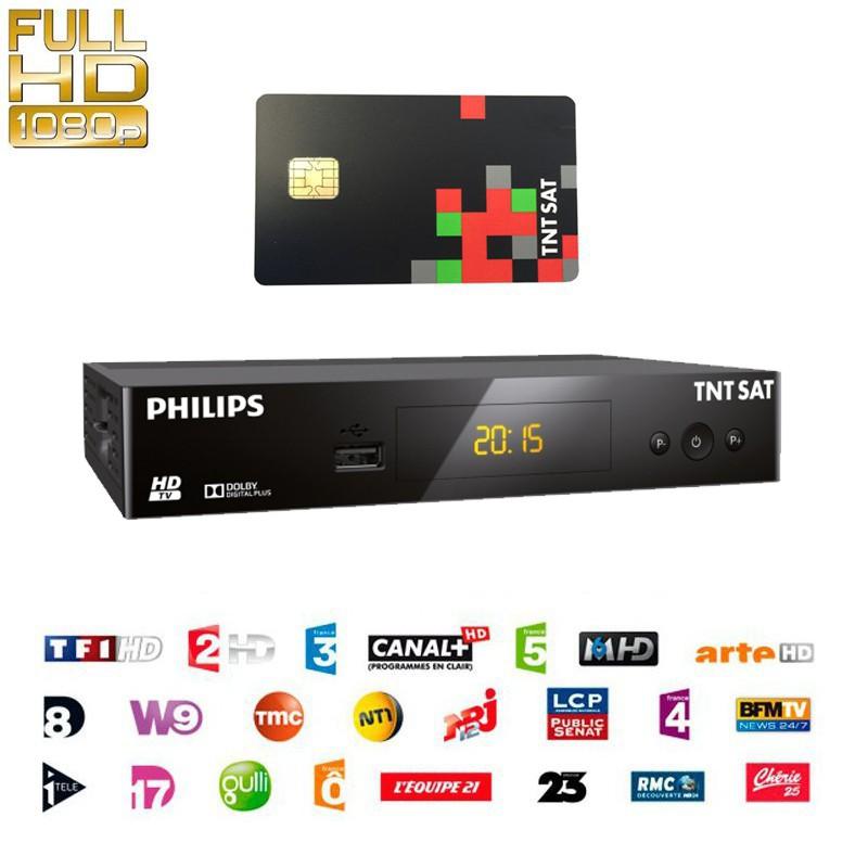 Philips DSR3231T HDTV Sat-Receiver TNTSAT mit Karte