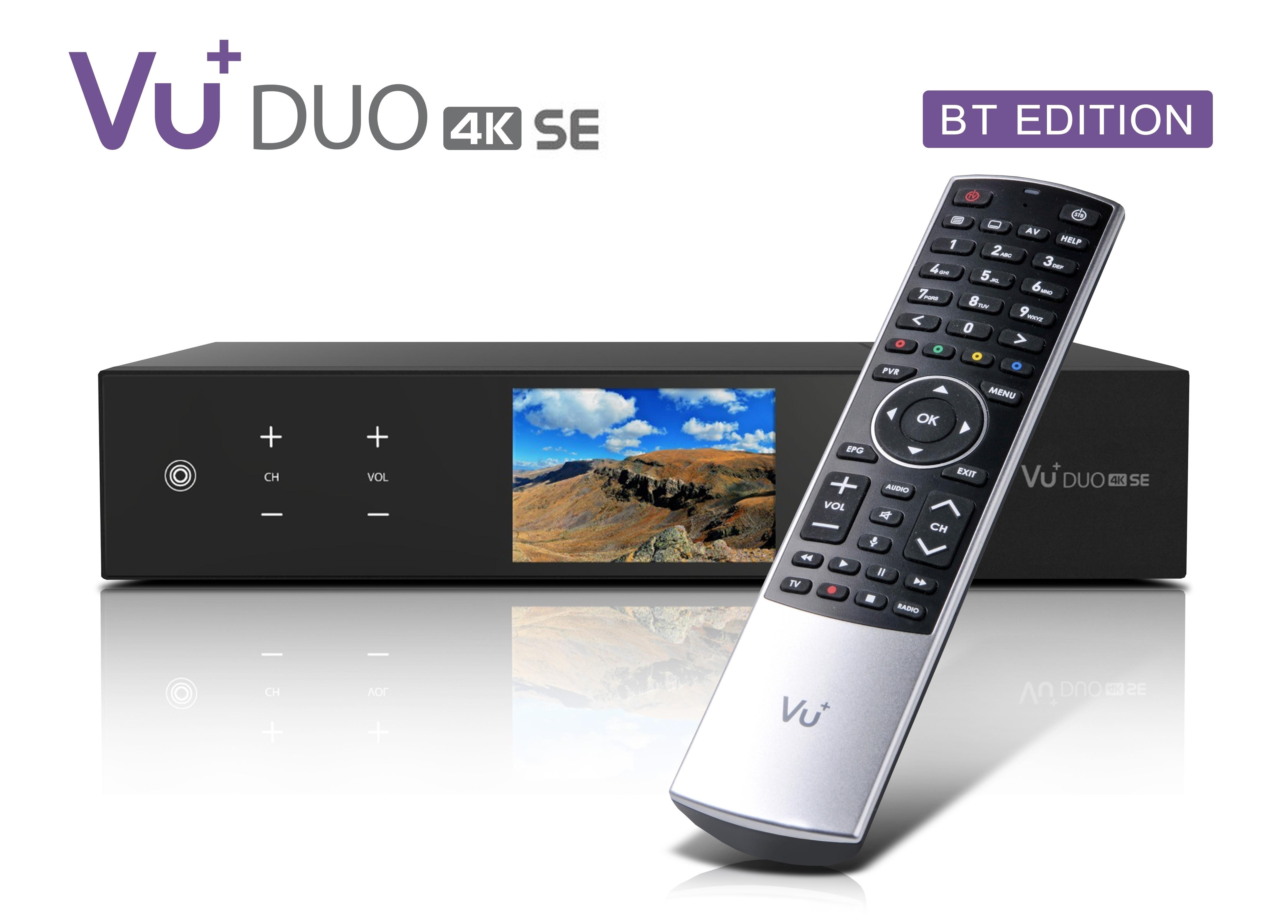 VU+ Duo 4K SE BT 1x DVB-S2X FBC Twin Tuner 1 TB HDD Linux Receiver UHD 2160p
