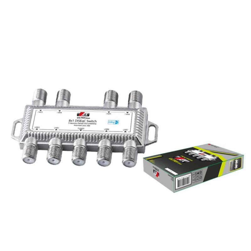 AX Ultra Line DiSEqC Schalter 8/1 8 zu 1 DiSEqC Switch