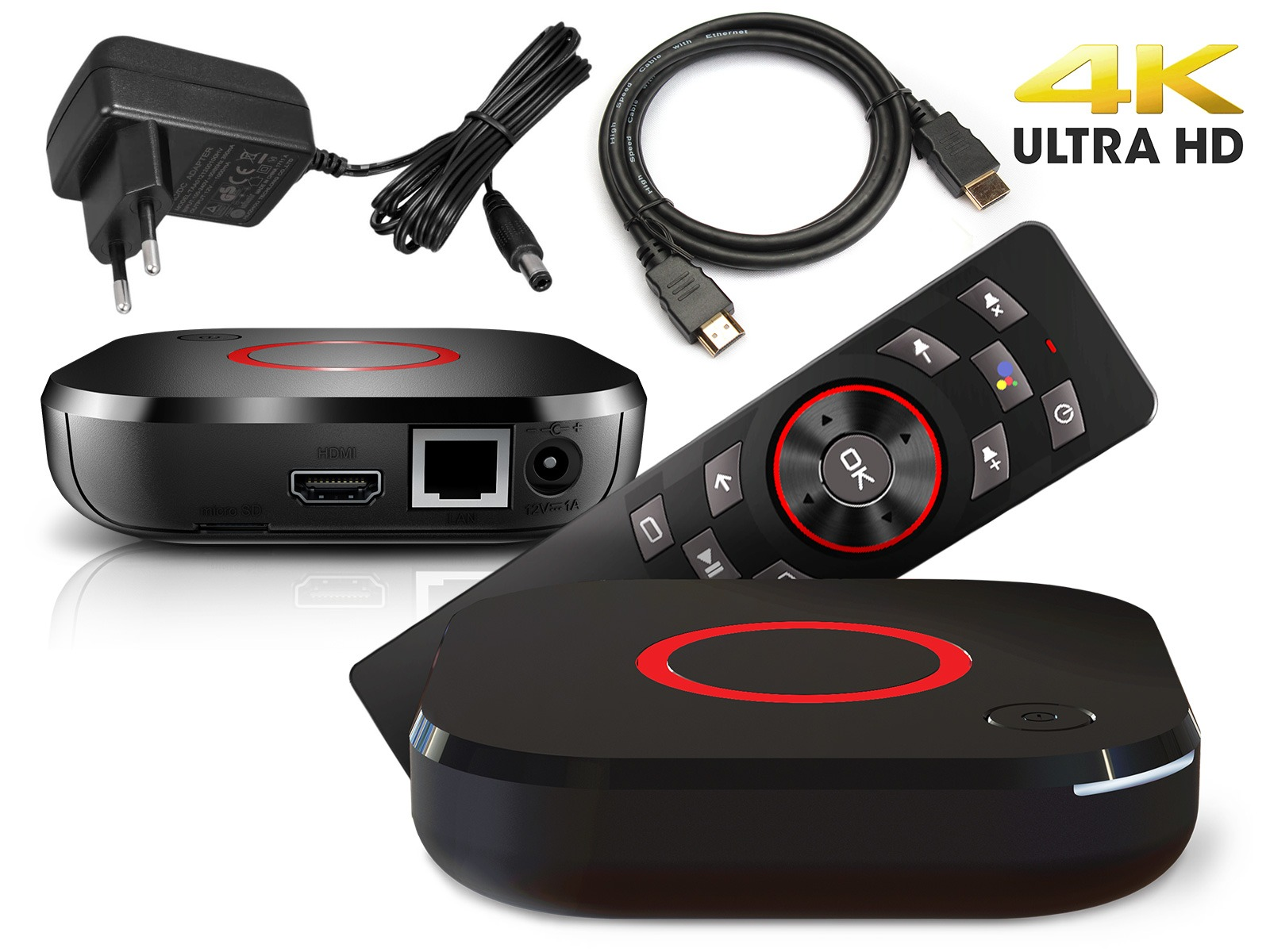 MAG 425A Android TV 8.0 4K HEVC 5G WIFI Bluetooth Sprachfernbedienung Chromecast IPTV Player