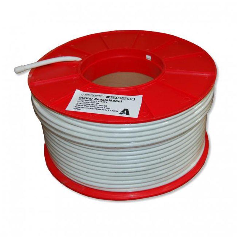 ESM S60 Koaxialkabel Sat Kabel >100 dB 3 Fach abgeschirmt Klasse A 100 meter