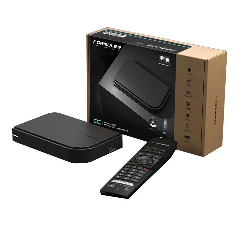 Formuler CC 4K UHD IPTV Android 7 Player mit DVB-T2 Tuner H.265 2GB RAM 16GB Flash, Wlan Schwarz
