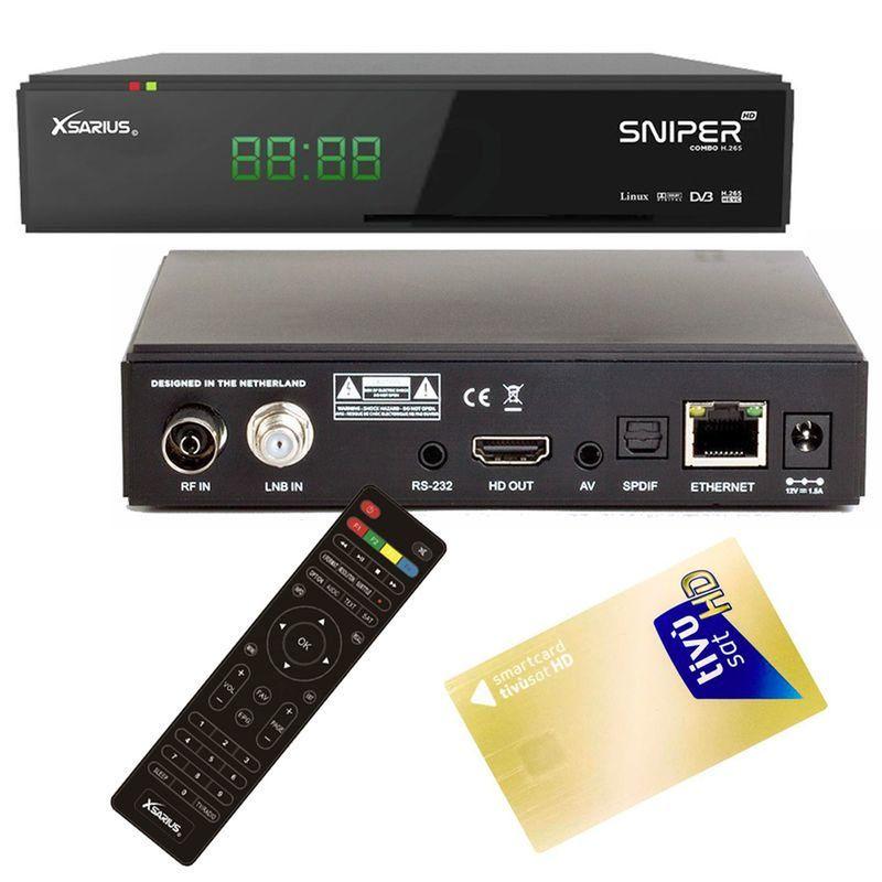 Xsarius USB,CA,IPTV Receiver mit AKTIVIERTE TIVUSAT Karte Sender vorinstalliert