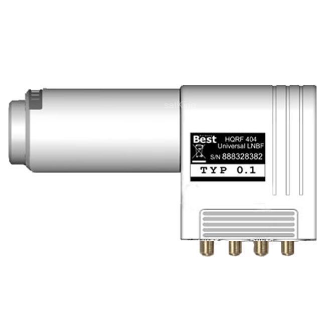 Best HQRF 414 Quattro Lens Straight Feed LNB 0.1dB 3D 4K Ready 3 Grad geeignet