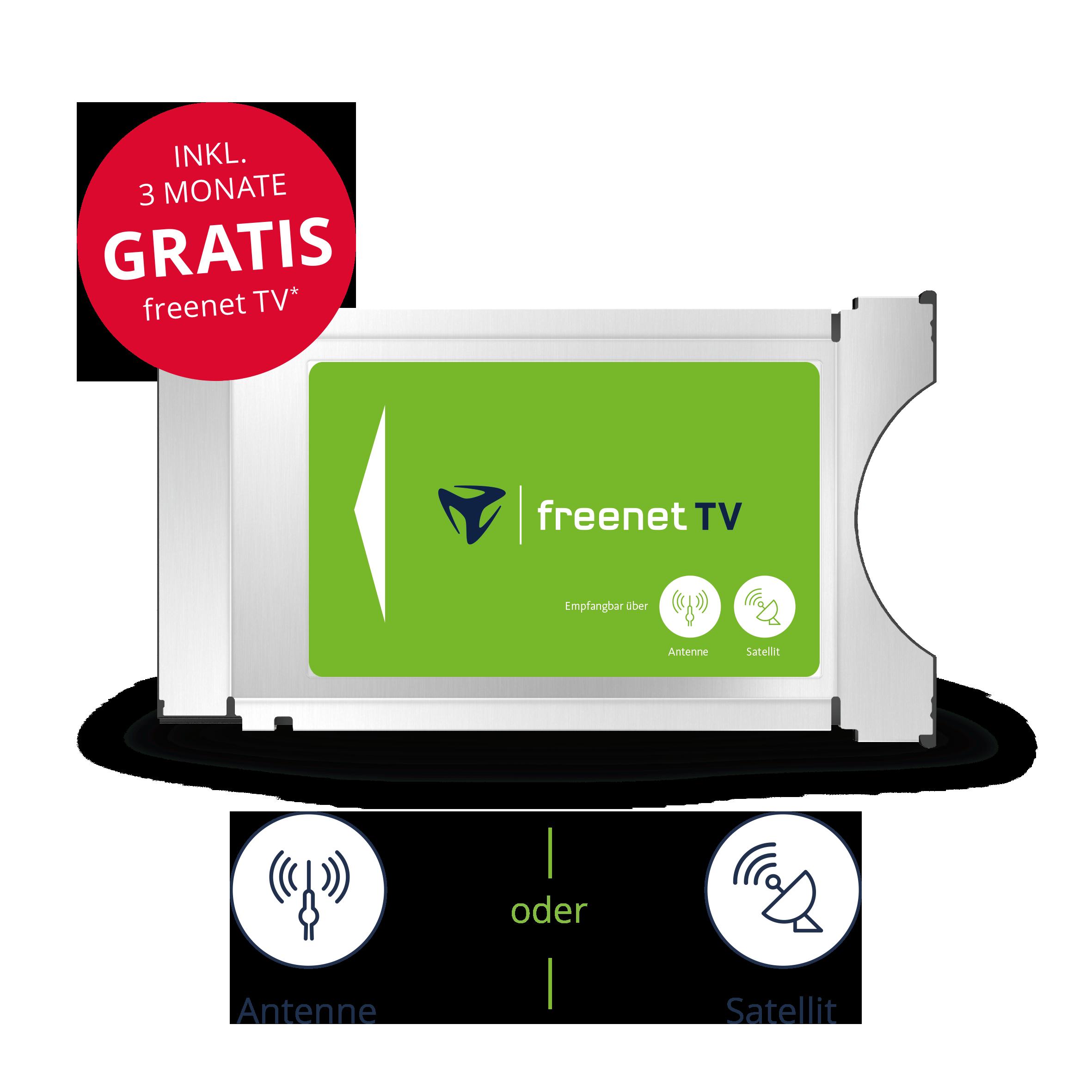 CI+ TV Modul von freenet TV für Antenne & Satellit inkl. 3 Monate gratis*