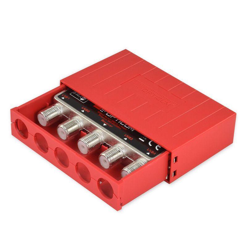 Opticum PROFI DiSEqC Schalter 4/1 Umschalter 4 Satelliten mit Wetterschutz