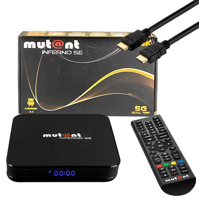 Mutant Inferno SE 8K 30FPS / 4K 60FPS Android 9.0 Dual-WLAN USB HDMI TV IP Receiver