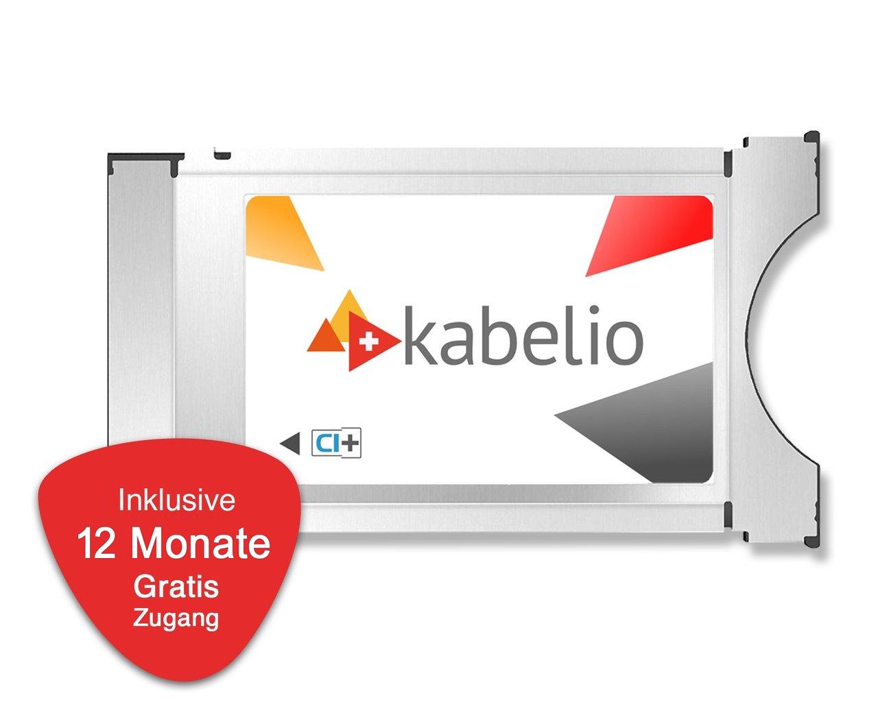 Kabelio CI+ Zugangsmodul inkl. 12 Monate Gratis-Zugang für SAT
