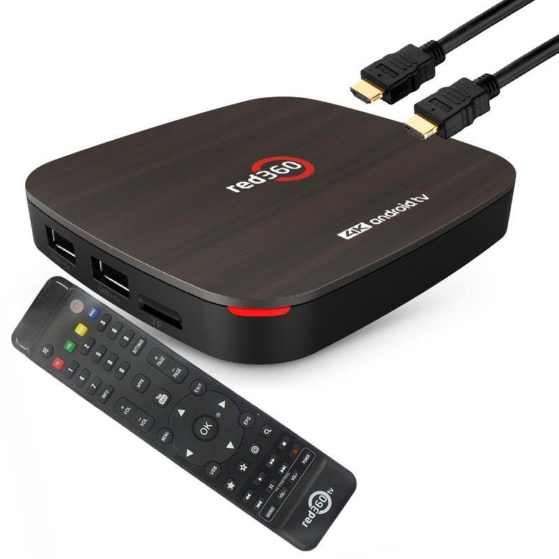 Redline Red360 4K OTT Media Player Android 9.0, H.265, 2GB RAM, 16GB Flash, MYTV, Wlan Schwarz