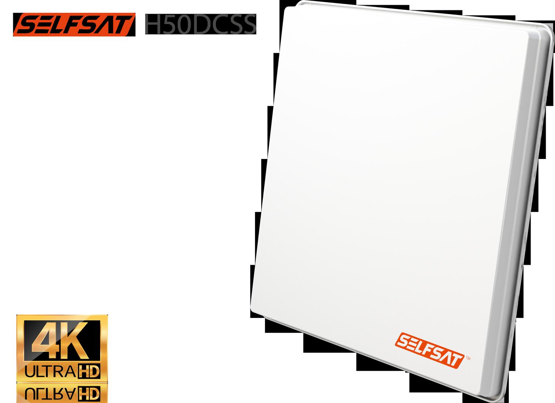 Selfsat H50dCSS Unicable 2 Antenne UHD 4K incl. 2 Legacy Ausgängen