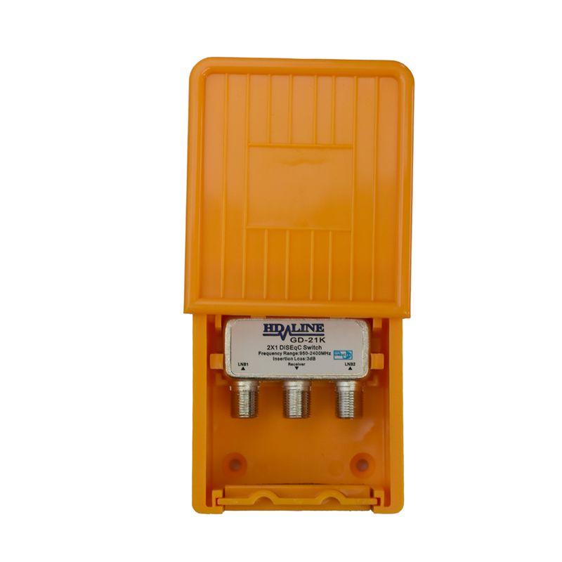 HD-Line 2/1 DiSEqC Schalter mit Wetterschutz Sat Umschalter