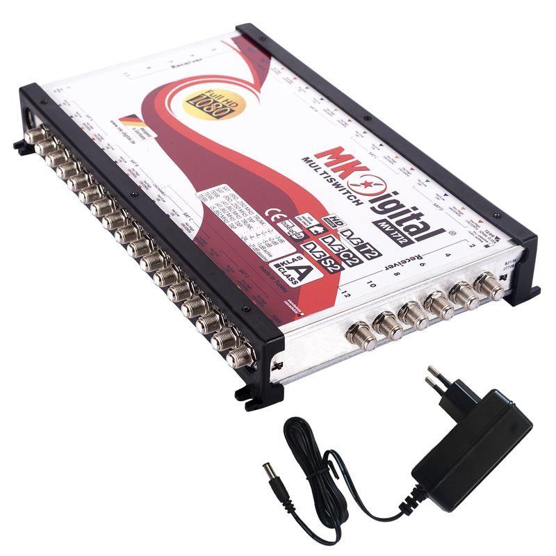 MK Digital MV 1712 Multischalter, Multiswitch SAT Verteiler 17 auf 12 kaskadierbar