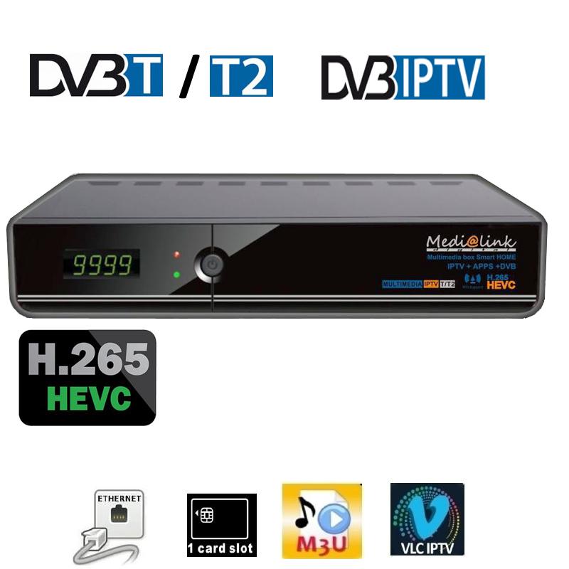 Medi@link Multimediabox ML 5100 HECV 265 IPTV+DVB-T/T2 1 Kartenleser