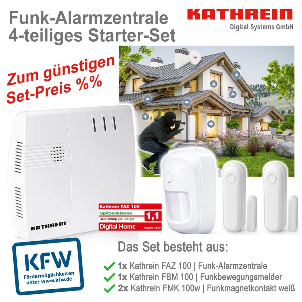 Kathrein FAZ 100 Funk-Alarmzentrale 4-teiliges Starter-Set (KfW-förderfähig)