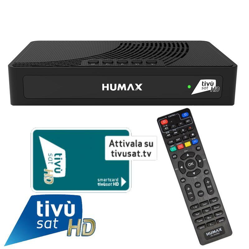 Humax TIVUMAX-HD3801 S2 HEVC HD Tivusat Receiver inkl. Aktive Smartcard Attiva