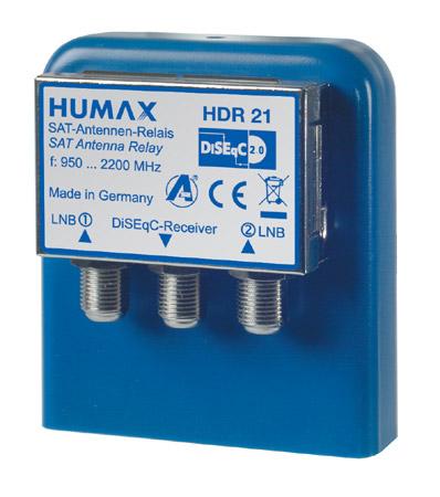 Humax HDR 21 2x1 DiSEqC Schalter mit WSG