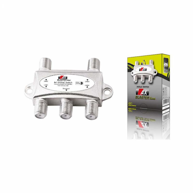AX Blaster Line 4/1 DiSEqC Schalter 4 zu 1 DiSEqC Switch