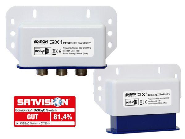 Edision DiSEqC Schalter Switch 2/1 inkl. Wetterschutz
