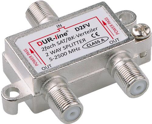 DUR-line BK-SAT- 2-fach Verteiler - Unicable tauglich
