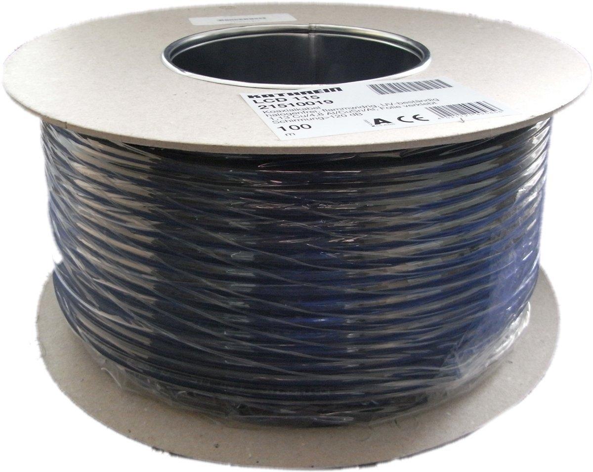 Kathrein LCD 115 A+ 100m Koaxialkabel Einwegspule schwarz