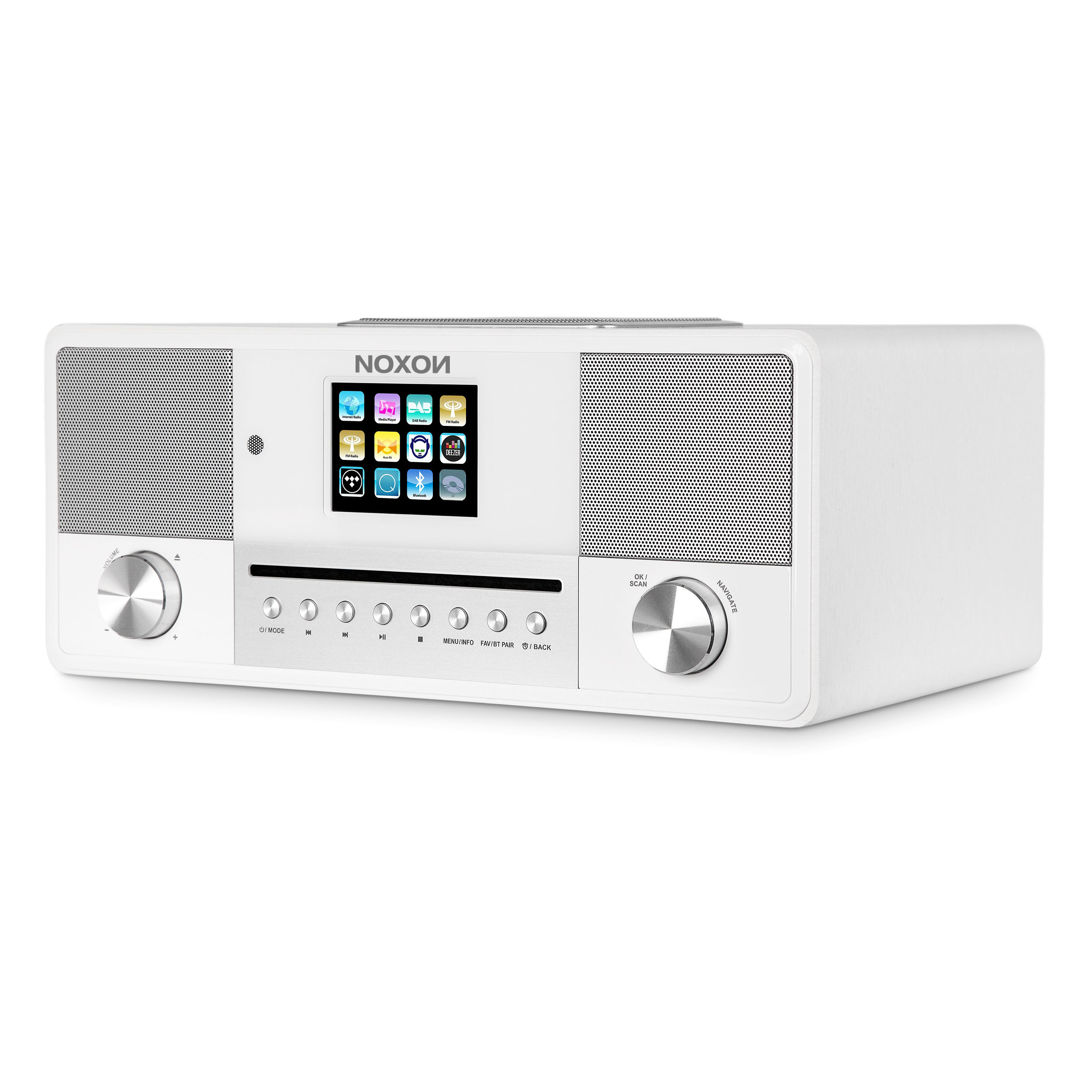 Noxon Jura - DAB+ UKW Internetradio mit Bluetooth, CD Player, Steuerung per App
