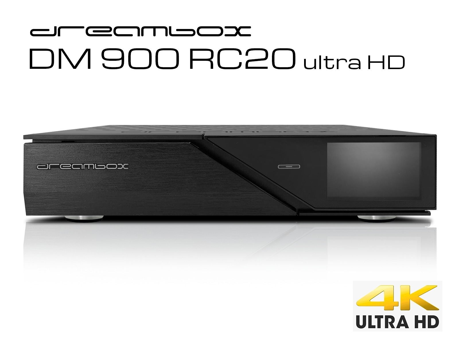 Dreambox DM900 RC20 UHD 4K 1x Dual DVB-S2X MS Tuner E2 Linux PVR ready Receiver