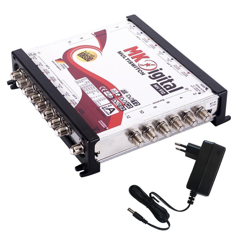 MK Digital MV 912 Multischalter, Multiswitch SAT Verteiler 9 auf 12 kaskadierbar