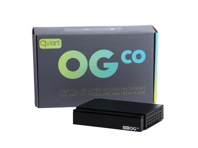 Qviart OGco LINUX Full HD COMBO Receiver DVB-S2/C/T2 Multistream H.265 OTT IPTV