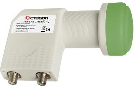 OCTAGON Twin LNB Green HQ OTLG 0.1dB
